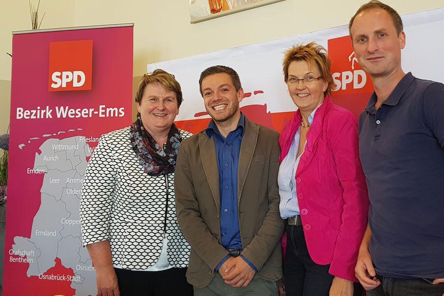 19.08.2017. Auf dem Kleinen Bezirksparteitag der SPD Weser-Ems mit MdL Johannes Modder und MdB Susanne Mittag.
