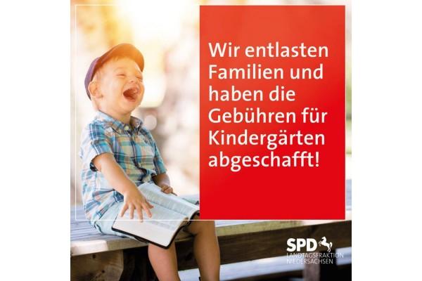 Motiv zur Beitragsfreiheit an Kindergärten