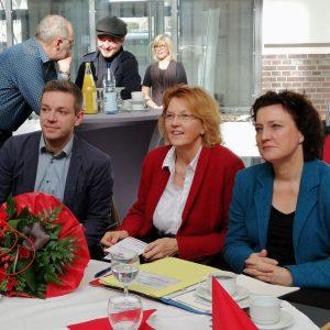 MdL Deniz Kurku, MdB Susanne Mittag und Ministerin Dr. Carola Reimann