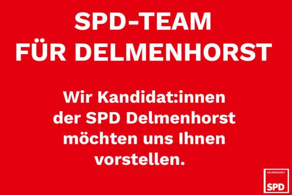 Text: SPD-Team für Delmenhorst